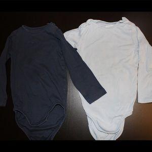 2 Long-Sleeve Baby Onesies